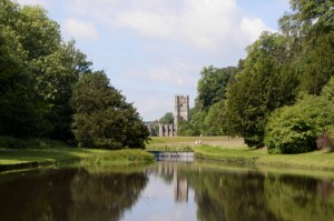 -2014-06-18 Fountains Abbey from lake1